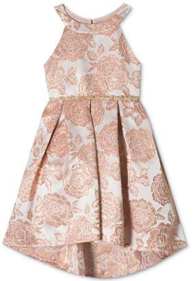 Rare Editions Toddler Girls Metallic Brocade Party Dress