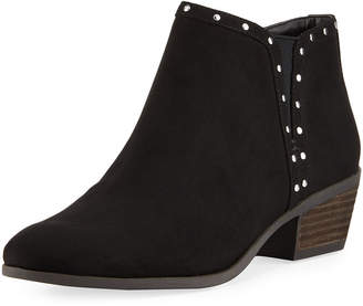 Sam Edelman Phyllis Studded-Trim Faux-Suede Booties