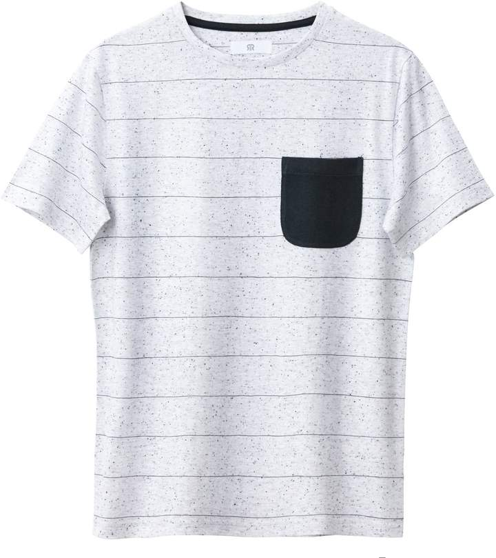La Redoute Collections T-Shirt with Turn-Up Sleeves, 10-16 Years