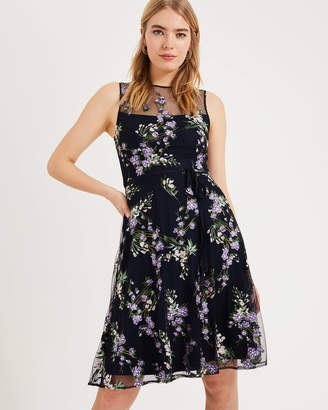 Navy Fit And Flare Dress Shopstyle Uk