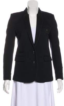 The Kooples Wool Button-Up Blazer