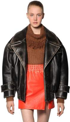 Miu Miu Oversized Vintage Leather Jacket