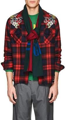 Gucci Men's Logo Wool-Silk Scarf