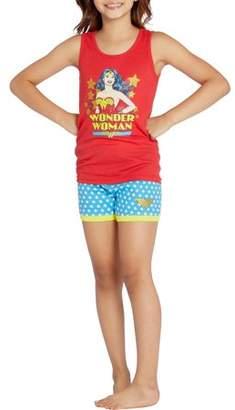 Girl's Wonder Woman Retro Comic 2 Piece Tank Short Set (Big Girls & Little Girls)