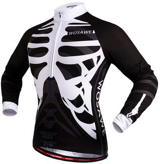 Fenteer Unisex Breathabe Cycing Jersey Bike Jersey Cycing Jacket Riding Jersey with Refective Strips Ensure Night Riding Safety Gym Outdoor Sports