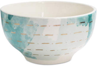 Jay Imports Closeout! Spring Soiree Aqua/Gold Rice Bowl