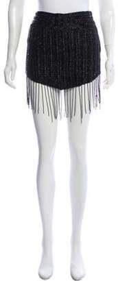 Haute Hippie Beaded Mini Skirt Black Beaded Mini Skirt