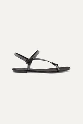 Pedro Garcia Ekin Crystal-embellished Satin Slingback Sandals - Black