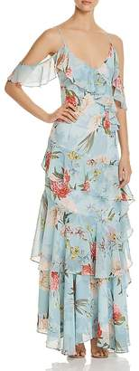 Yumi Kim Heart's Desire Tiered Ruffle Maxi Dress