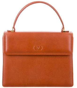 Valentino Grained Leather Satchel