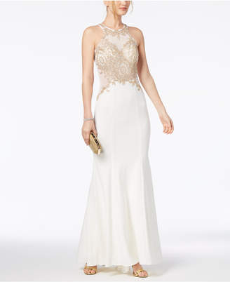 Xscape Evenings Beaded & Embroidered Gown