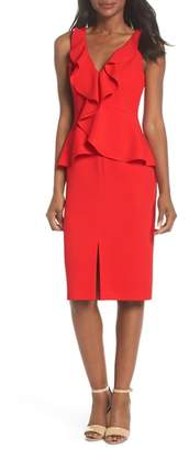 Eliza J Sleeveless Peplum Sheath Dress