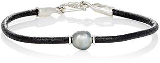 Dean Harris Men's Baroque Pearl & Leather Cord Bracelet