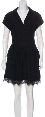 Balenciaga Guipure Lace Mini Dress
