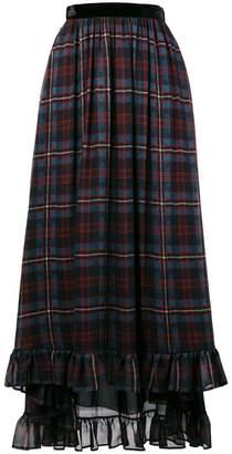 Philosophy di Lorenzo Serafini check print asymmetric skirt