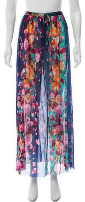 Fuzzi Floral Patterned Maxi Skirt w/ Tags