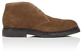 Heschung Men's Genet Suede Chukka Boots-Rust
