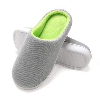 Fly London HAWK Women's Memory Foam Plush House Slippers Two-Tone Indoor Shoes