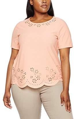 Evans Women's Floral Cut Out T-Shirt,(Manufacturer Size:/24)