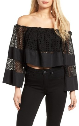 Women's Kendall + Kylie Off The Shoulder Top $215 thestylecure.com
