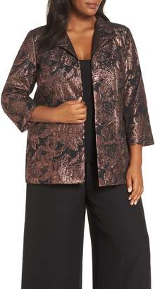 Alex Evenings Bronze Jacquard Twinset