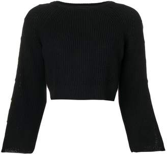 Elisabetta Franchi cropped star button sweater