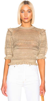 Ulla Johnson Linny Sweater in Gold   FWRD