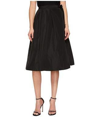 Jil Sander Navy Pleated Wrap Skirt