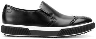 Prada brogue detail loafers