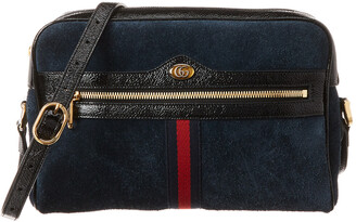 Gucci Ophidia Small Suede & Leather Camera Bag