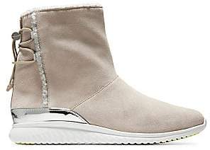 Cole Haan Women's Studio Grand Faux Shearling-Lined Suede Ankle Boots