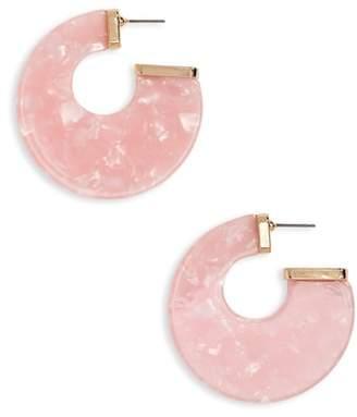 BP Flat Resin Hoop Earrings
