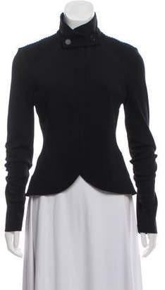 Diane von Furstenberg High Collar Button-Up Cardigan