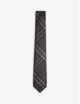 Burberry Check modern-cut silk tie