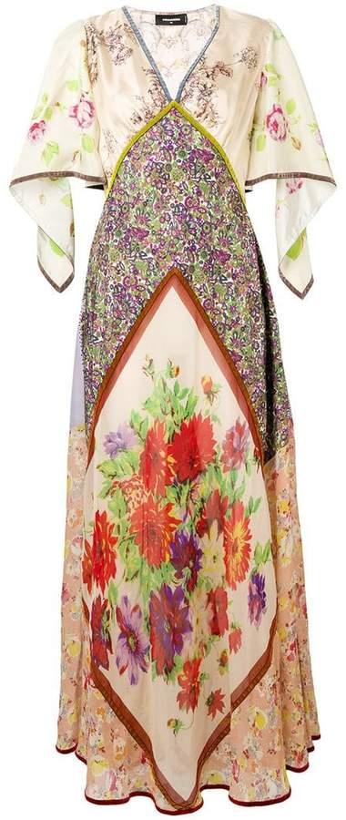 floral print panelled dress
