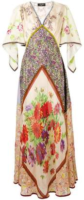 DSQUARED2 floral print panelled dress