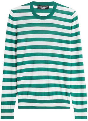 Dolce & Gabbana Riga Striped Cashmere Pullover with Silk