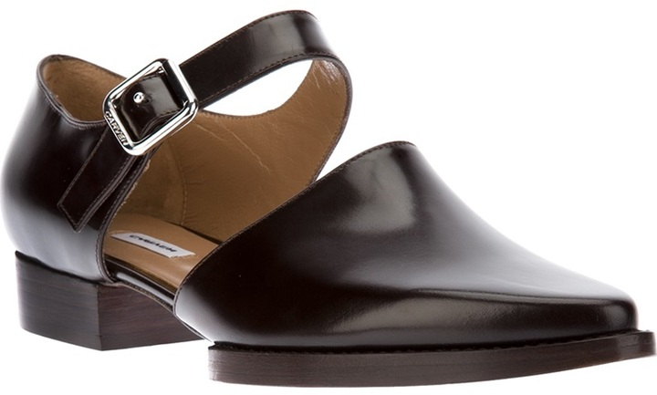 Carven pointed cut out shoe