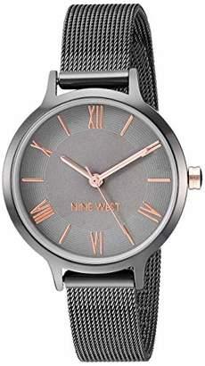 Nine West Women's NW/2229GYRT Mesh Bracelet Watch