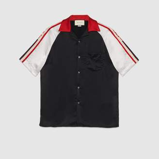 Gucci Acetate bowling shirt with stripe