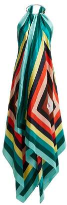 Diane von Furstenberg Gia Scarf Print Silk Dress - Womens - Black Multi