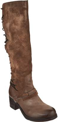 Miz Mooz Tall Leather Boots w/ Lace Detail - Shankara