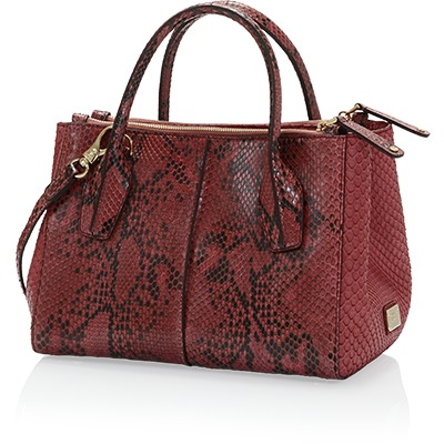 Tod's D-Styling Mini Shopping Bag in Python Leather