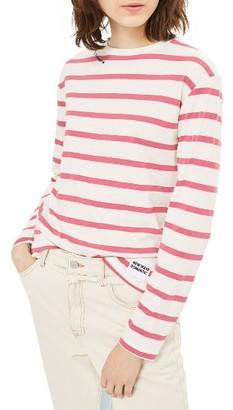 Women's Topshop Romantic Stripe Tee $40 thestylecure.com