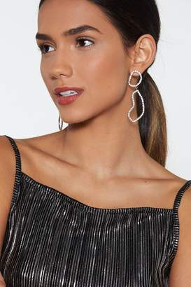 Nasty Gal All in Good Shine Diamante Earrings