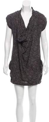 Reiss Cheetah Print Draped Dress