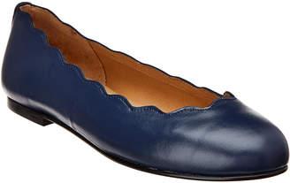 French Sole Teardrop Leather Flat