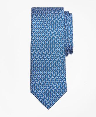 Brooks Brothers Bit Chain Link Print Tie