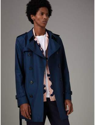 Burberry Cotton Gabardine Trench Coat , Size: 46