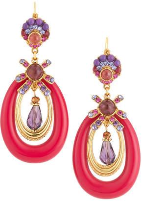 Jose & Maria Barrera Lucite Oval Drop Earrings